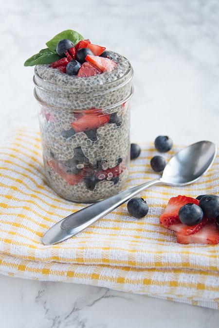 chia seed berry breakfast