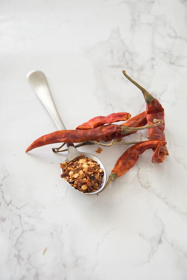 crushed chili flakes