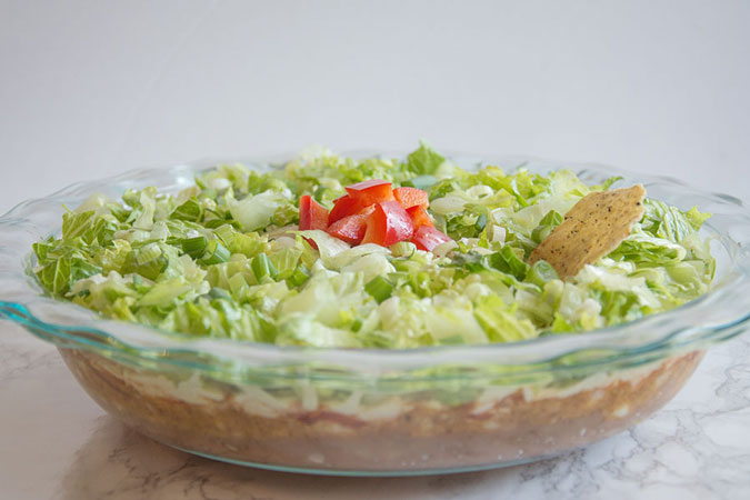 5-Layer Vegan Taco Dip