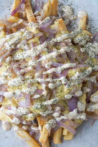 vegan animal fries