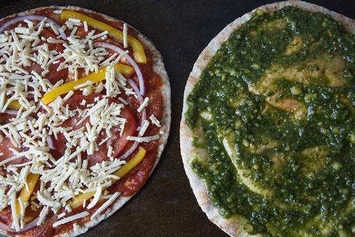 pita pizza before