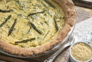 Spinach & Asparagus Quiche