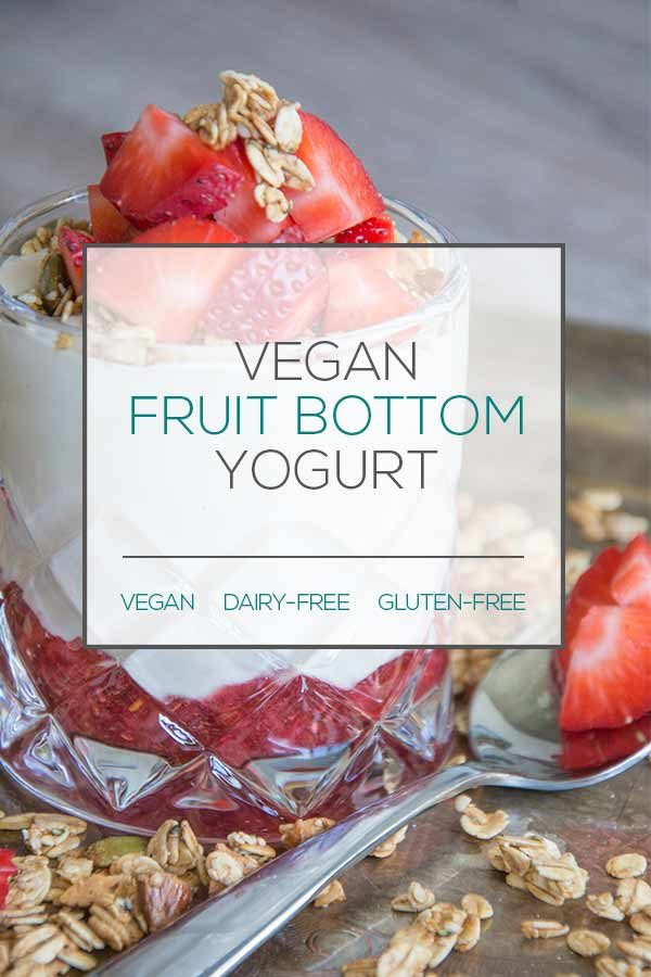 vegan fruit bottom yogurt
