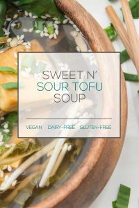Sweet n' Sour Tofu Soup