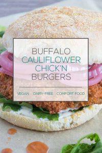 Buffalo Cauliflower Chick'n Burger