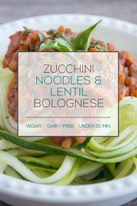 Zucchini Noodles & Lentil Bolognese