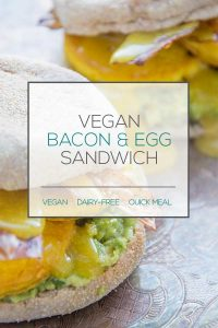 Vegan Egg & Bacon Breakfast Sandwich