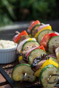 Sizzling Vegetable Skewers