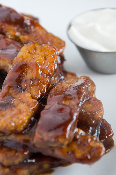 tempeh BBQ wings