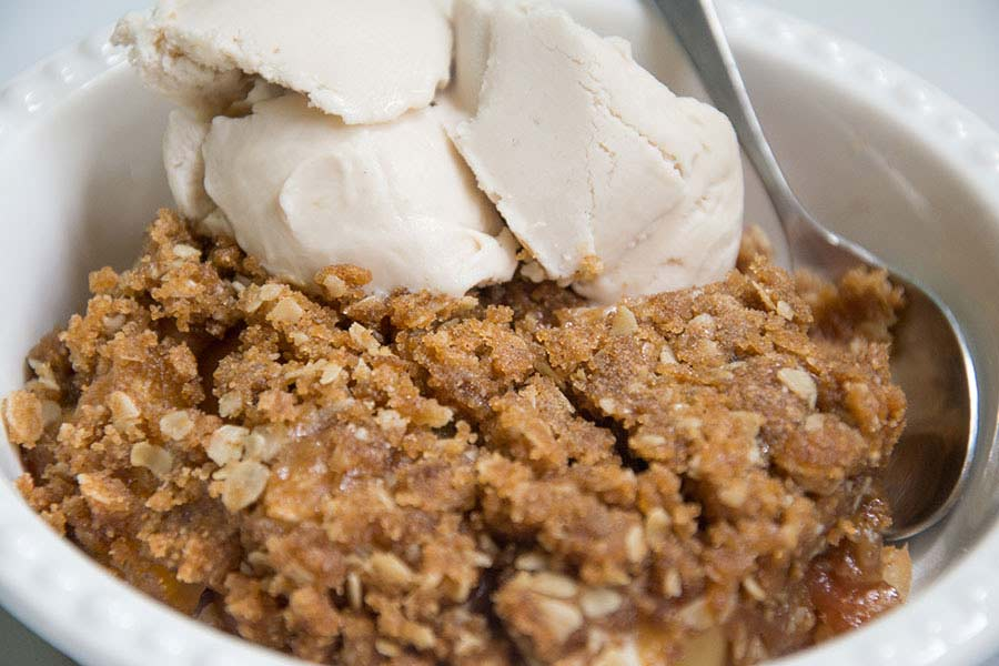 vegan apple betty