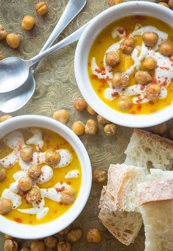 Carrot Turmeric Soup with Cashew Cream Sauce