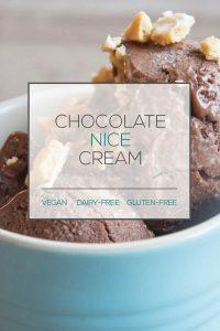 Chocolate Nice Cream with Vanilla Swirl