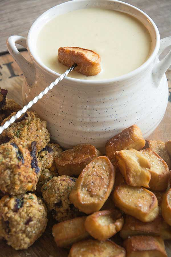 vegan fondue dippers