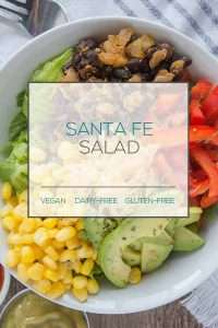 Santa Fe Salad with Avocado Lime Dressing