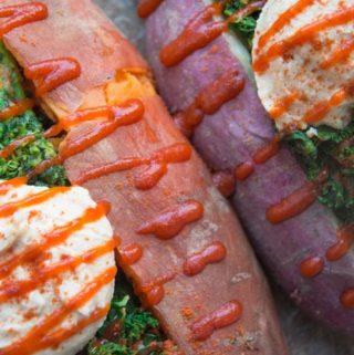 hummus sweet potatoes