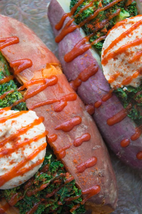 hummus sweet potatoes