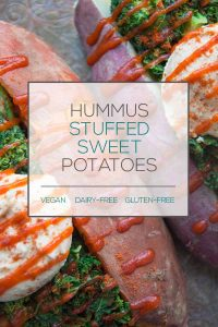 Hummus Stuffed Sweet Potatoes