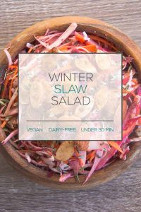 Winter Slaw Salad with Maple Almonds